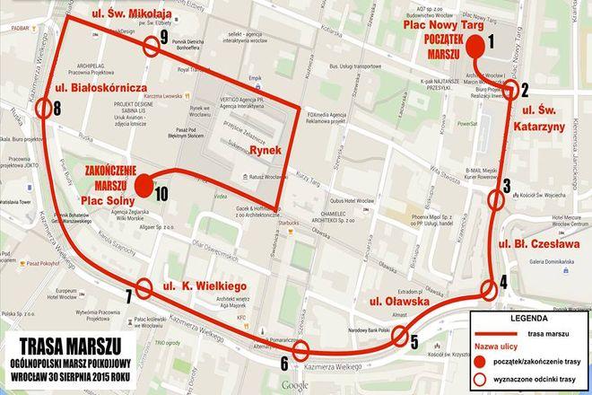 Oto trasa marszu