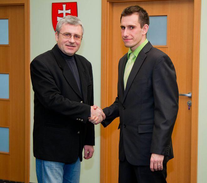Leon Susmanek, pełnomocnik konsula honorowego Republiki Słowackiej we Wrocławiu i Jan Golian, doktorant Katolickiego Uniwersytetu w Rużomberku.