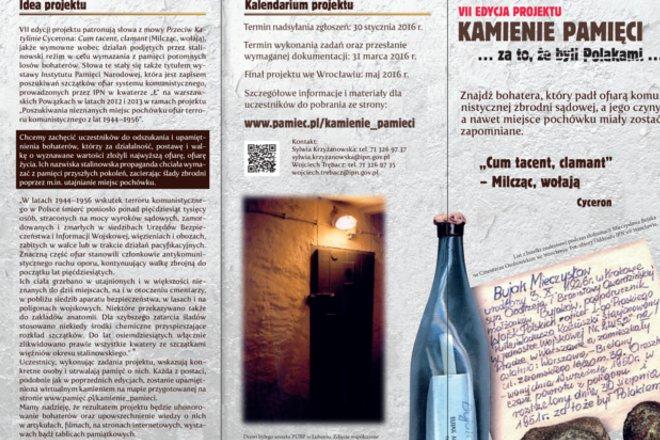 VII edycja projektu IPN Kamienie Pamięci