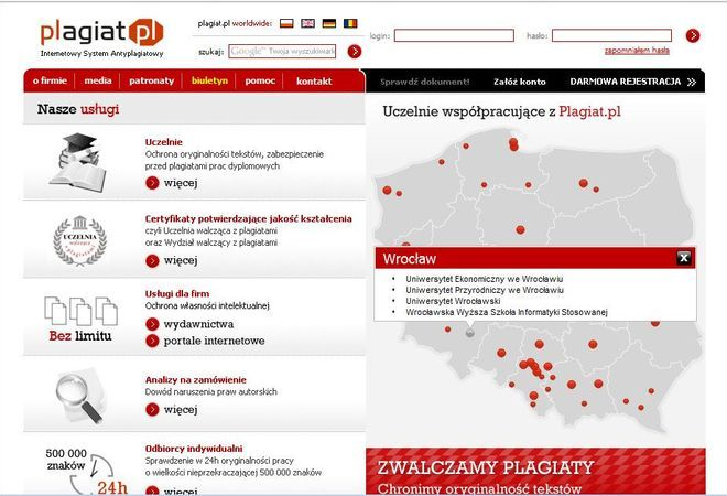 4 wrocławskie uczelnie walczą z plagiatami.