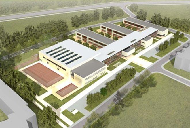 Wizualizacje nowego budynku.