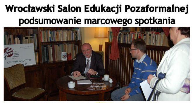 Pierwsze spotkanie Wrocławskiego Salonu Edukacji Pozaformalnej.