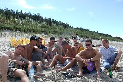 Impreza na plaży.