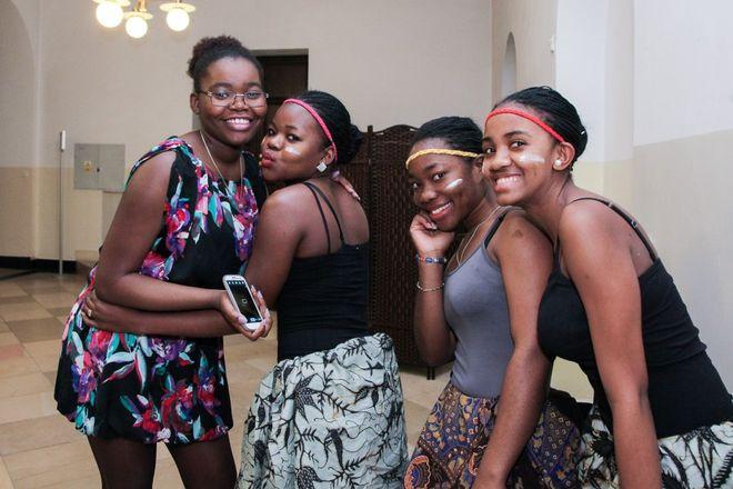 Tak prezentowały się studentki z Angoli na ubiegłorocznym spotkaniu