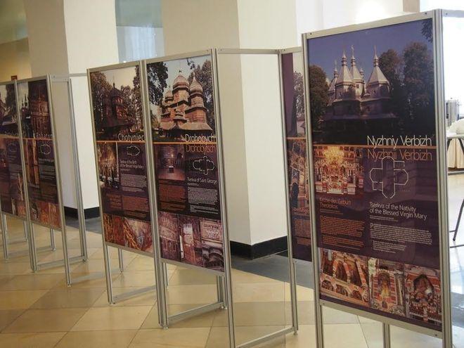 Wystawa poświęcona szesnastu drewnianym cerkwiom