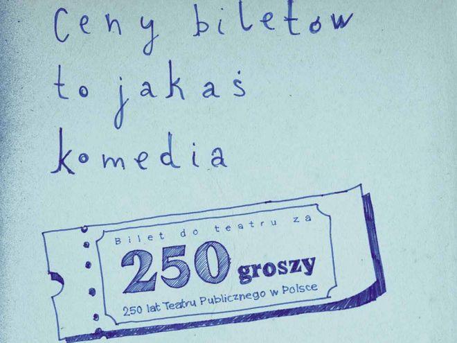 Akcję zorganizowano w ramach 250 lat teatru publicznego w Polsce
