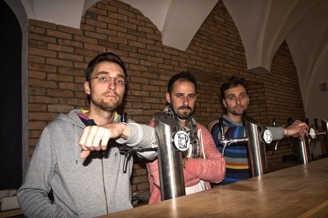 Trzej założyciele i pomysłodawcy lokalu
