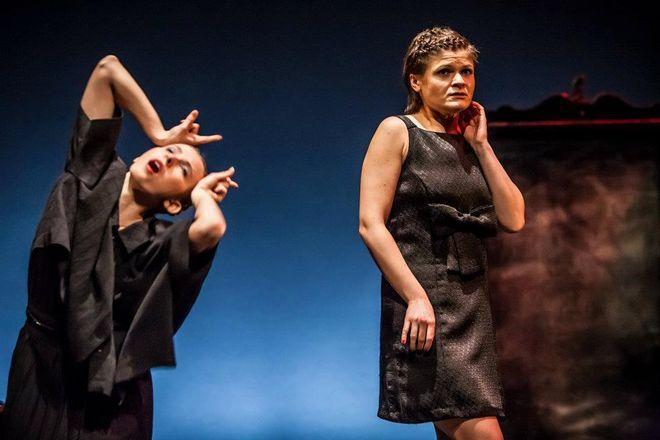 Aktorki Wrocławskiego Teatru Pantomimy Agnieszka Charkot i Agnieszka Dziewa