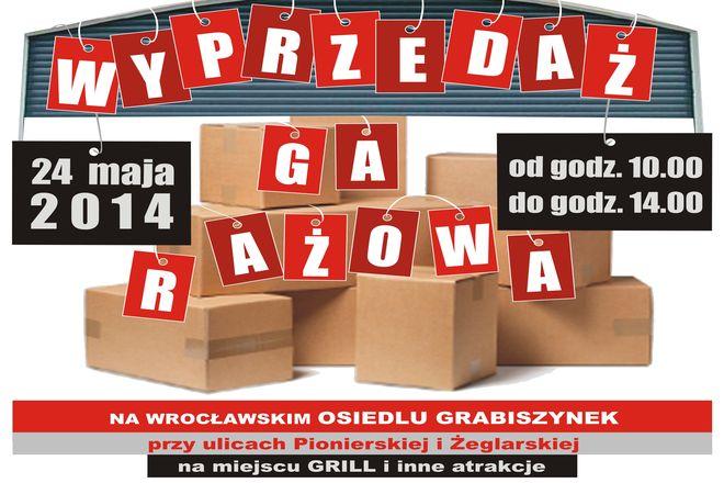 Wyprzedaż garażowa na osiedlu Grabiszynek