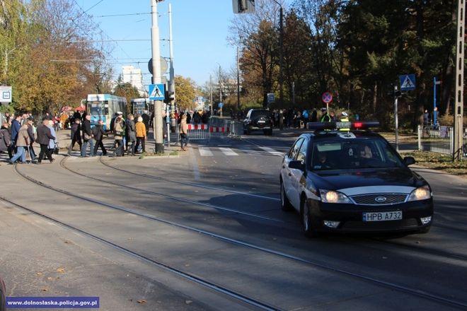 Policjanci patrolowali m.in. rejon Cmentarza Grabiszyńskiego we Wrocławiu