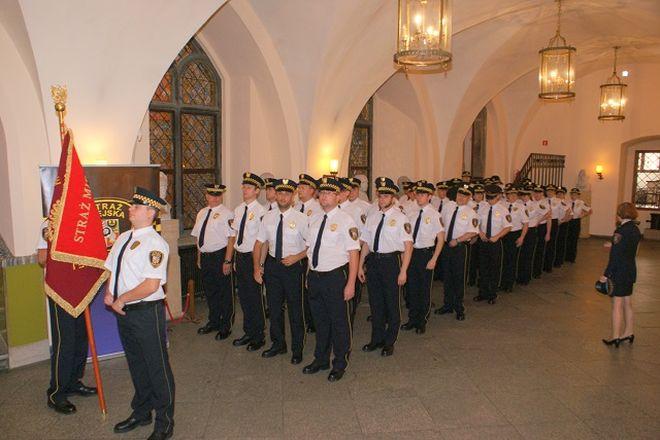 Strażnicy świętowali w Ratuszu
