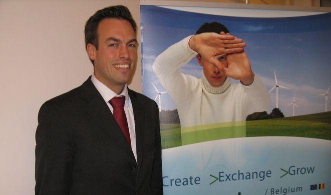 Maxime Woitrin z Walońskiej Agencji ds. Eksportu i Inwestycji Zagranicznych (AWEX) odpowiedzialny za pomoc firmom walońskim w nawiązywaniu kontaktów biznesowych.