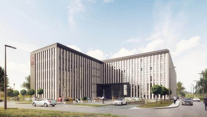 Pięciokondygnacyjny biurowiec klasy A – Bielany Business Point − powstaje przy ul. Irysowej w Bielanach Wrocławskich