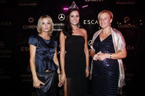 Prezes firmy Clarena- Patricia Popławska, z Miss Polonia 2009 i Anetą Kręglicką.