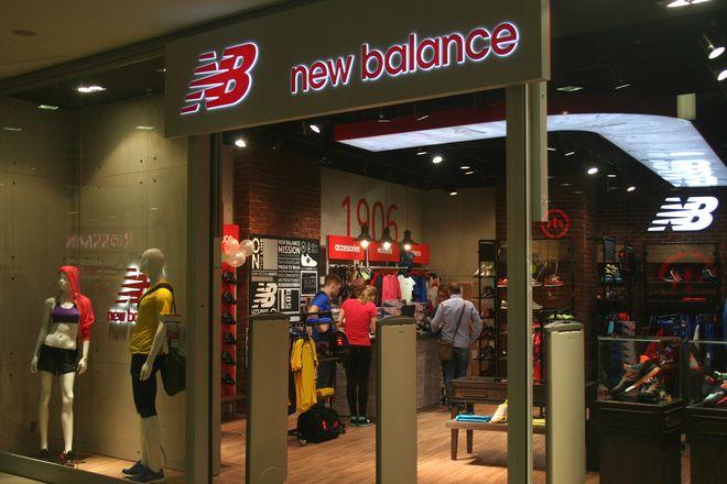 Sklep New Balance na poziomie -1