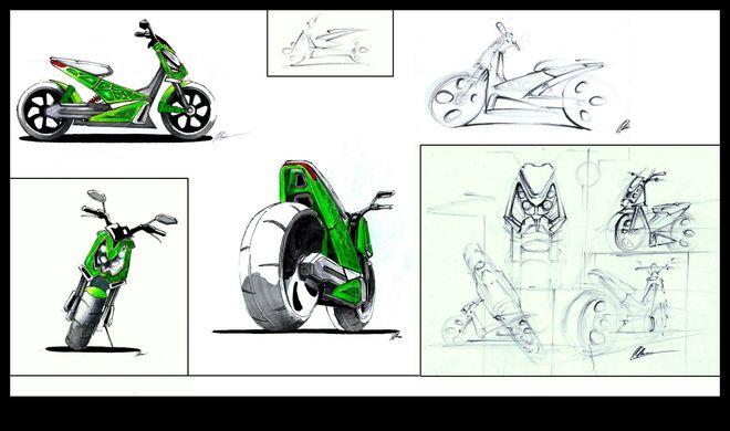Prototyp nowego motocykla