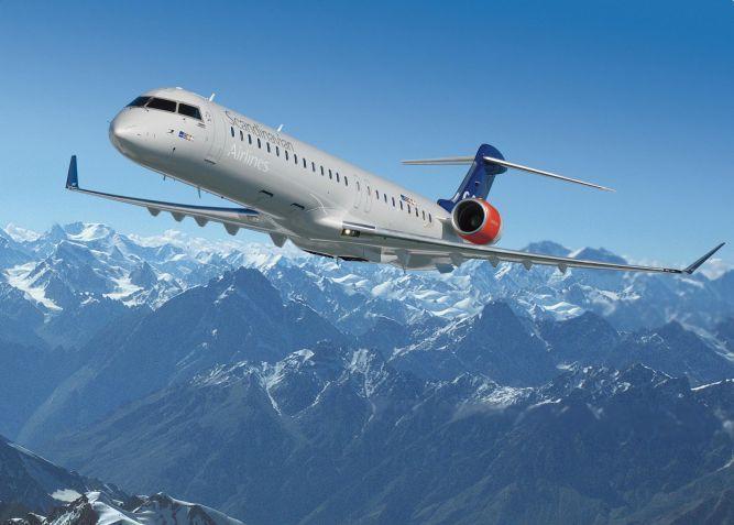 CRJ900, nowoczesny samolot skandynawskiej linii lotniczej SAS.