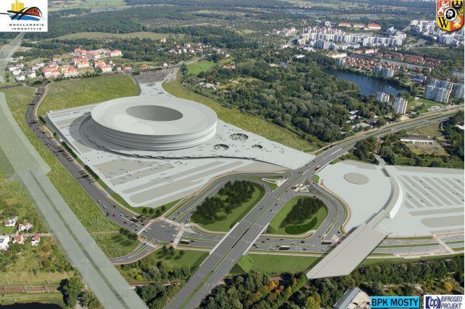 Wizualizacja stadionu i jego okolic.