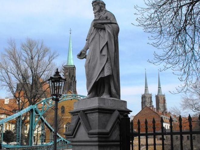 Figura św. Jana Chrziciela przy moście Tumskim
