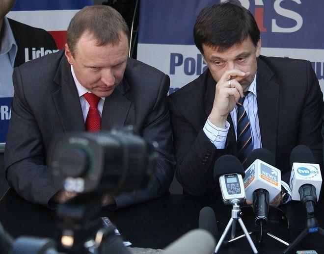 Jacek Kurski (po lewej) przyjedzie do Wrocławia razem z innymi politykami Solidarnej Polski