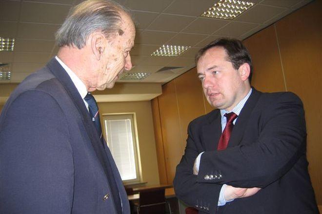 Śp. Andrzej Przewoźnik (z prawej) i Zbigniew Ścibor-Rylski
