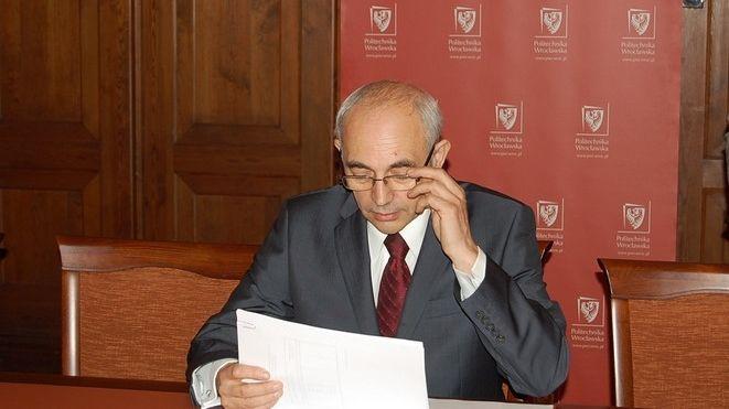 Rektor Politechniki Wrocławskiej - profesor Tadeusz Więckowski