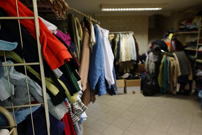 Magazyn odzieży wrocławskiej Caritas