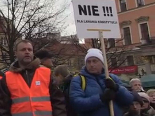 To druga tak duża manifestacja na placu Solnym w ciągu ostatnich dwóch weekendów