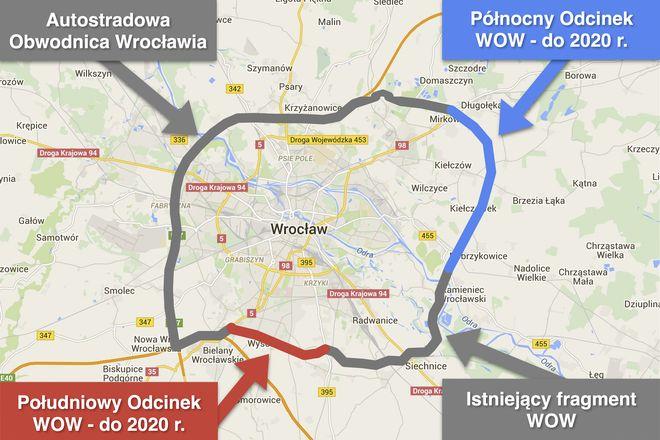 Pierścień drogowy wokół Wrocławia ma być gotowy dopiero za 5 lat