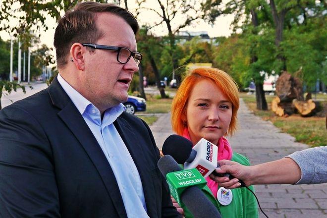 Małgorzata Tracz i Dawid Mirowski
