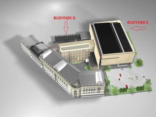 Projekt zakłada powstanie nowego budynku E oraz przebudowę istniejącego budynku D.