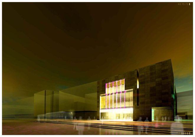 Tak będzie wyglądała nowa siedziba Teatru Muzycznego Capitol od strony ul. Piłsudskiego.