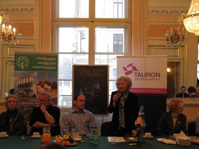 """Premierze opery """"Chopin"""" towarzyszyła konferencja prasowa, która odbyła się 22 stycznia."""