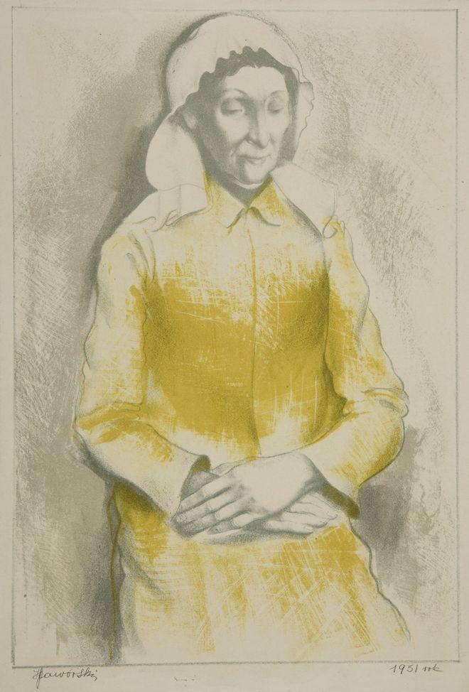 """Henryk Jaworski, """"Kobieta w czepku"""", 1931"""