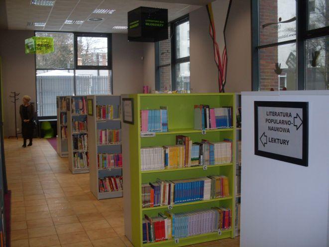 Wnętrze nowej Mediateki przy ul. Reja 1/3.