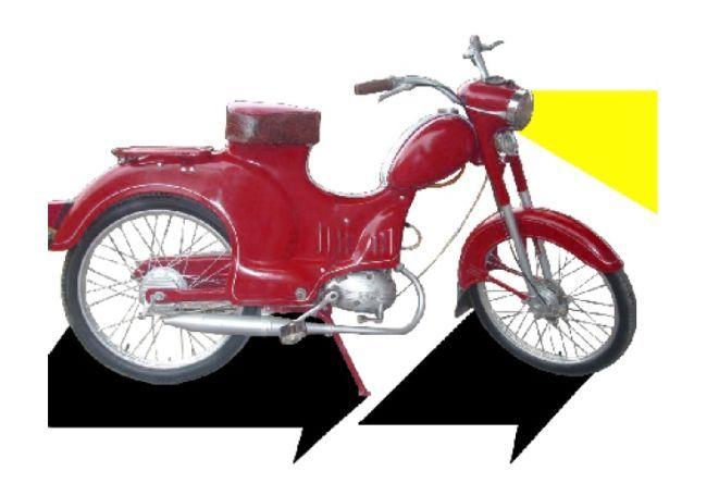 Motorower Ryś produkowany w Zakładach Metalowych Zakrzów w latach 1957-1964.