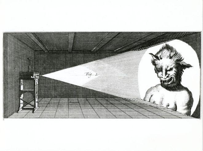 Latarnia strachu, z książki Gulielmo J. Gravesande, Physices Elementa Mathematica, Genewa, 1748 r.