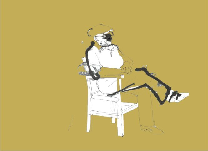 T. Pietrek, ''Portret Willego Cohna na fotelu''.