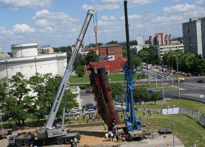 23 czerwca na pl. Strzegomskim stanął ''pociąg do nieba''.