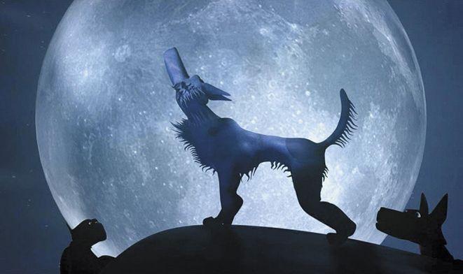 Fragment animacji Cypriana Piwowarskiego ''Sonata księżycowa''.