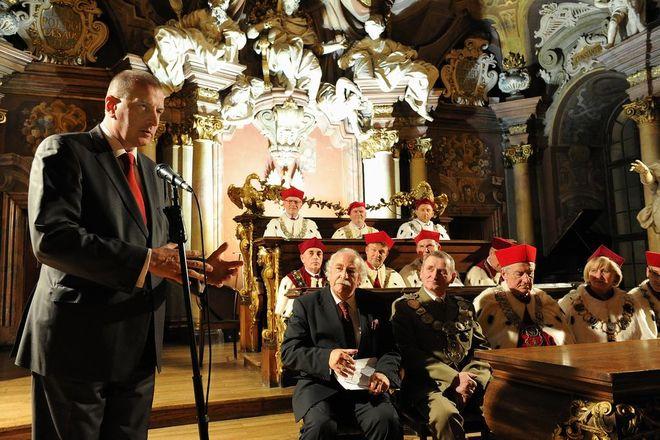 Przemówienie wygłosił prezydent Wrocławia Rafał Dutkiewicz