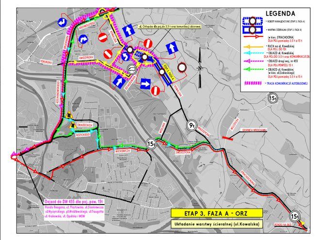 Schemat zmian na ulicy Kowalskiej