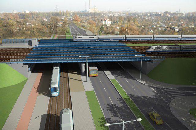 Tak po przebudowie ma wyglądać wiadukt nad ulicą Starogroblową