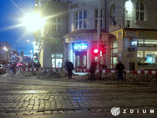 Wykopu u zbiegu ulic Kołłątaja i Piłsudskiego