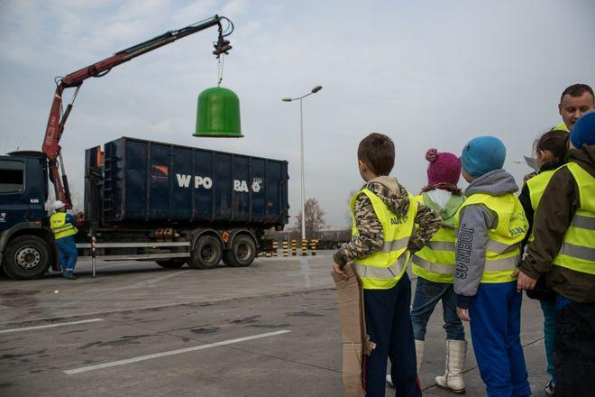 To była lekcja recyklingu w sortowni WPO Alba