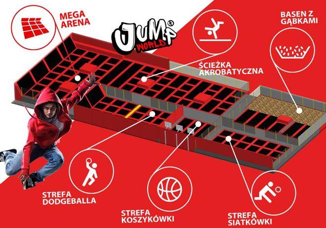 JumpWorld Wrocław zapewnia mnóstwo przestrzeni do świetnej zabawy.