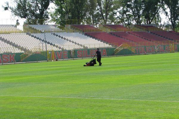 Murawa stadionu na Oporowskiej była doskonale przygotowana na przyjęcie reprezentacji
