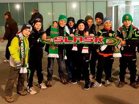 Najmłodsi chętnie kibicują Śląskowi