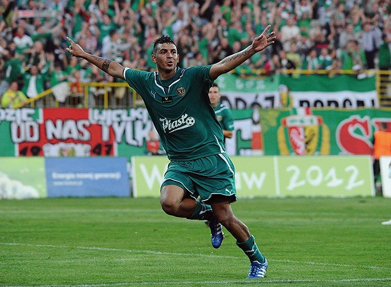 W jesiennym meczu Śląska z Zagłębiem jedną z bramek strzelił Cristian Omar Diaz.