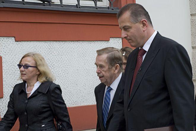 Vaclav Havel podczas swojej wizyty we Wrocławiu w roku 2009.